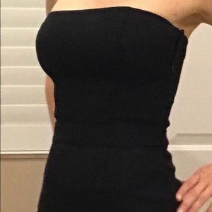 Black Stella McCartney Midi Strapless Dress Sz4